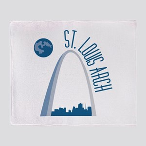 St. Louie Arch Throw Blanket