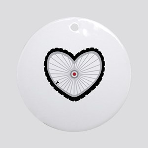 Love Bicycle Ornament (Round)