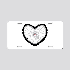 Love Bicycle Aluminum License Plate