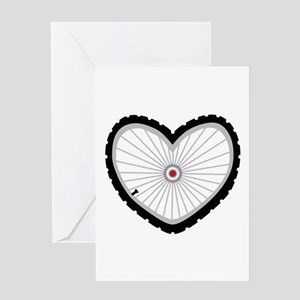 Love Bicycle Greeting Cards