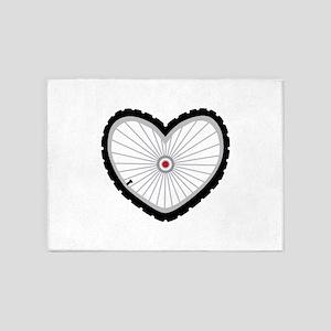 Love Bicycle 5'x7'Area Rug