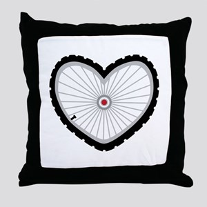 Love Bicycle Throw Pillow