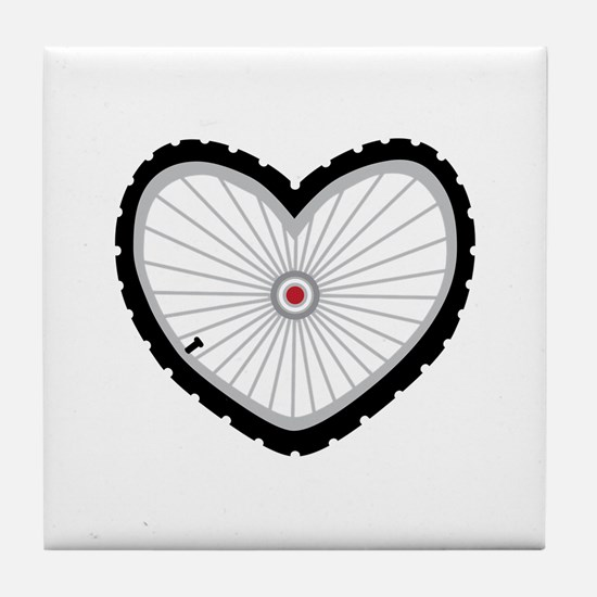 Love Bicycle Tile Coaster