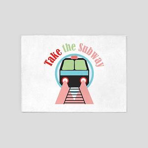 Take The Subway 5'x7'Area Rug