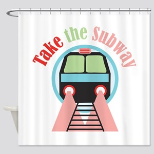 Take The Subway Shower Curtain