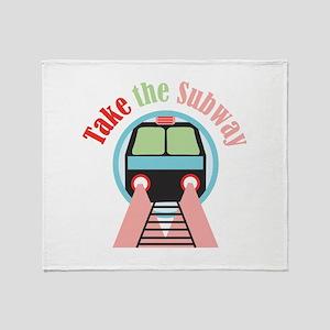 Take The Subway Throw Blanket