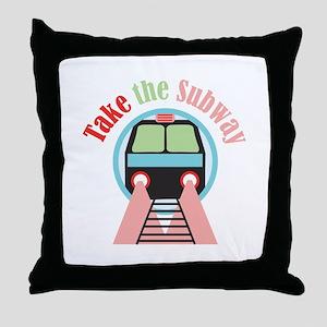 Take The Subway Throw Pillow