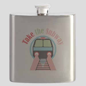 Take The Subway Flask