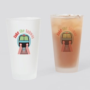 Take The Subway Drinking Glass