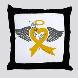 I've held an Angel (Childhood Cancer) Throw Pillow