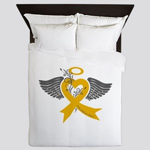 I've held an Angel (Childhood Cancer) Queen Duvet