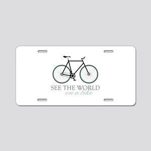 On A Bike Aluminum License Plate