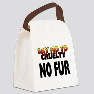 Say no to cruelty. No fur - Canvas Lunch Bag