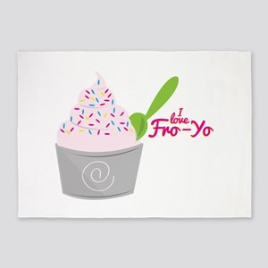 I Love Fro-Yo 5'x7'Area Rug