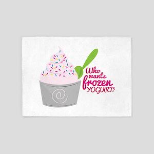 Frozen Yogurt? 5'x7'Area Rug