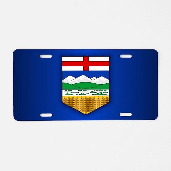 Alberta Flag Aluminum License Plate