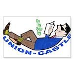 Union Castle Rectangle Sticker