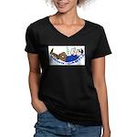 Union Castle Women's V-Neck Dark T-Shirt