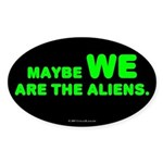 Aliens Oval Sticker