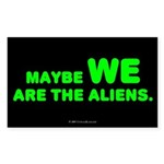 Aliens Rectangle Sticker
