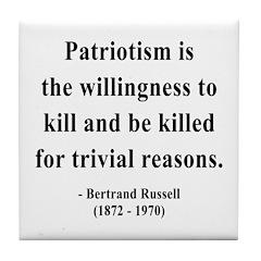 Bertrand Russell 9 Tile Coaster