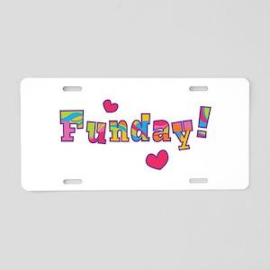 Funday! Aluminum License Plate