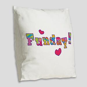 Funday! Burlap Throw Pillow
