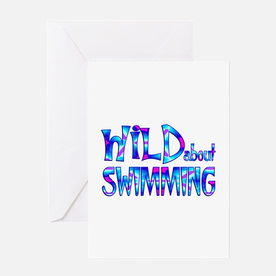 Wild About Swimming Greeting Cards