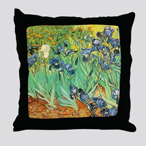 Van Gogh Irises Throw Pillow