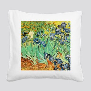 Van Gogh Irises Square Canvas Pillow