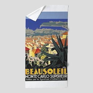 Beausoleil, France, Monte Carlo, Vintage Poster Be