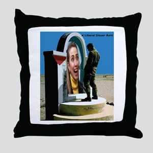 Irrigate Hillary 2016 Throw Pillow