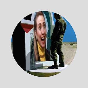 """Irrigate Hillary 2016 3.5"""" Button"""