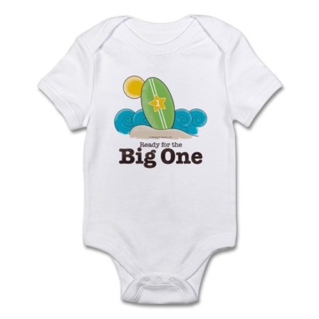 The Big One Surf New Baby or First Birthday Onesie