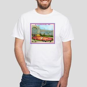 Floral Clock White T-Shirt