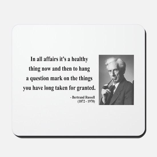 Bertrand Russell 6 Mousepad