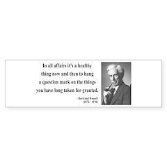 Bertrand Russell 6 Bumper Bumper Sticker