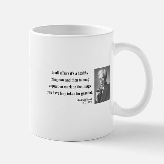 Bertrand Russell 6 Mug