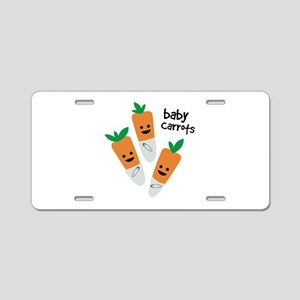 Baby Carrots Aluminum License Plate
