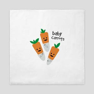 Baby Carrots Queen Duvet