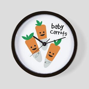 Baby Carrots Wall Clock