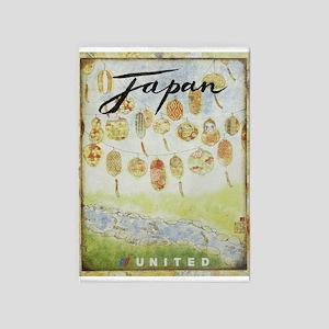 Japan, Lanterns, Travel, Vintage 5'x7'area Rug