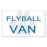 Flyball is Fun Sticker (Rectangle)