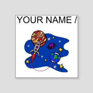 Rocket In Space (Custom) Sticker