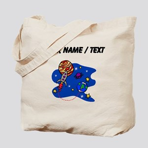 Rocket In Space (Custom) Tote Bag