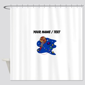 Rocket In Space (Custom) Shower Curtain