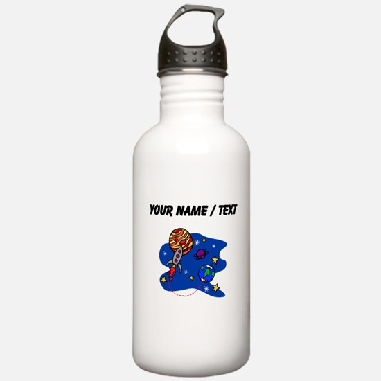 Rocket In Space (Custom) Water Bottle