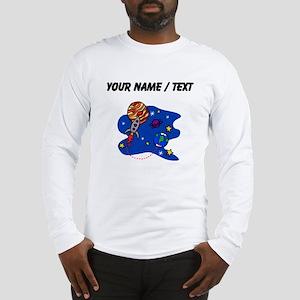 Rocket In Space (Custom) Long Sleeve T-Shirt