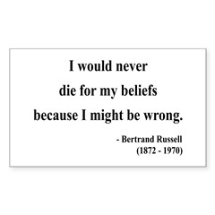 Bertrand Russell 3 Rectangle Decal