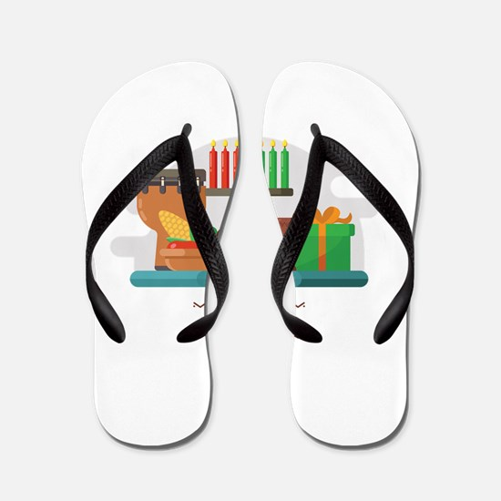 happy kwanzaa gifts Flip Flops